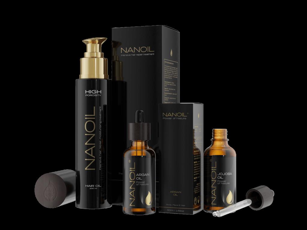 najlepsze olejki do włosów Nanoil